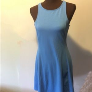 Blue sundress flattering and comfy size M